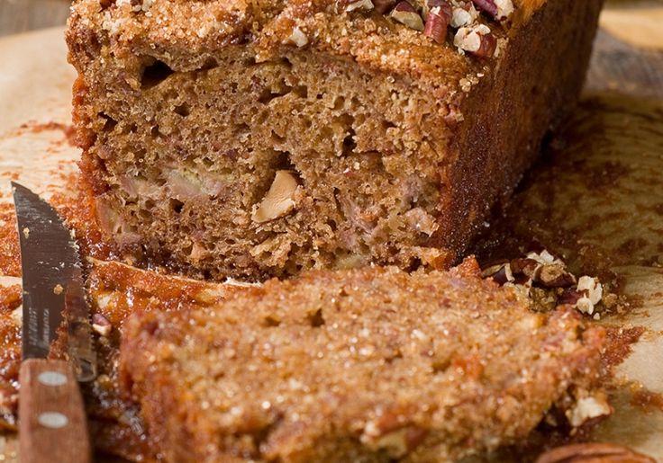 Honey cake and pecans