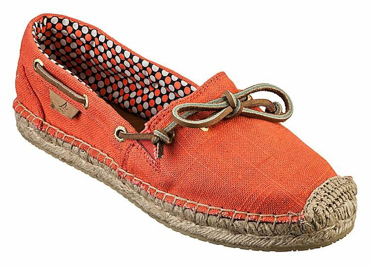 Sperry Top-Sider® Katama Slip-On Shoes for Ladies - Neon Coral | Bass Pro Shops #sperrytopsider #mothersdaygifts #espadrille
