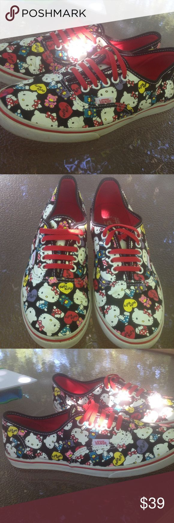 Women's Hello Kitty Vans Fashion sneakers 7.5M Women's Hello Kitty Vans Fashion sneakers 7.5M These are awesome! Vans Shoes Sneakers