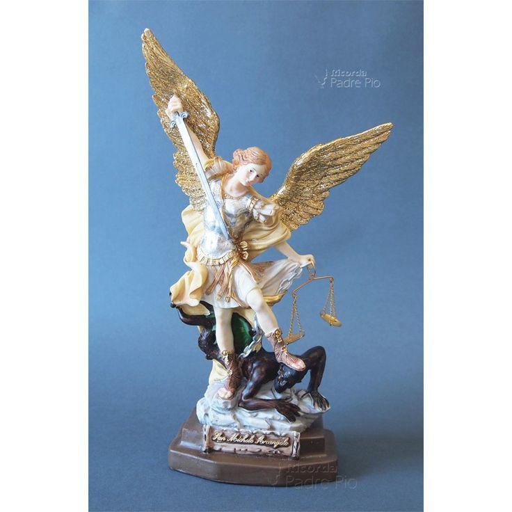 Statua San Michele Arcangelo Resina col. 30cm
