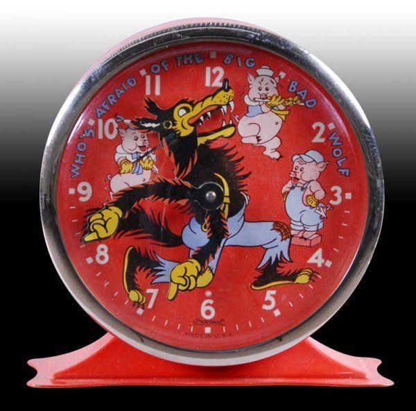 Big Bad Wolf Alarm Clock (1930's)