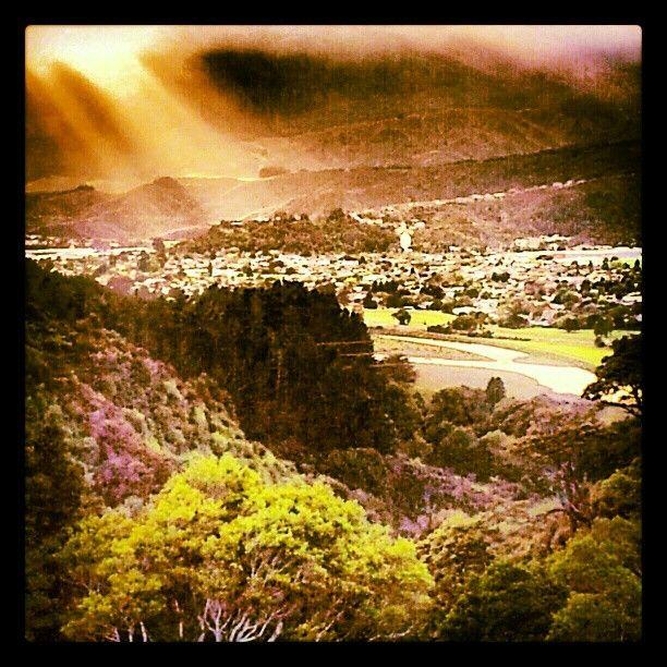 Upper Hutt - interesting fall off the sun light  - Instagram