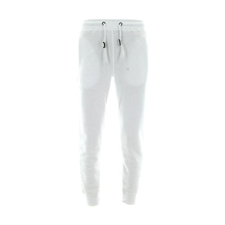 Skazi New York - Men's 250 Gsm Solid Basic Fleece Joggers - White
