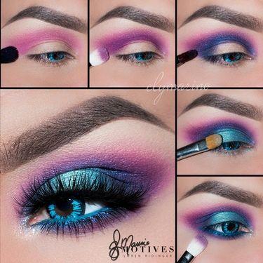 Mermaid Tales, blue eye shadow, motives, purple eyeshadow, purple lipstick, mocktail