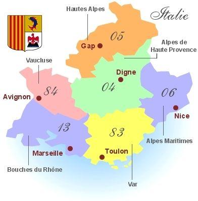 PACA = 6 departments