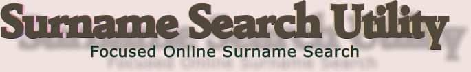 Surname Search Utility - free focused online surname search tool