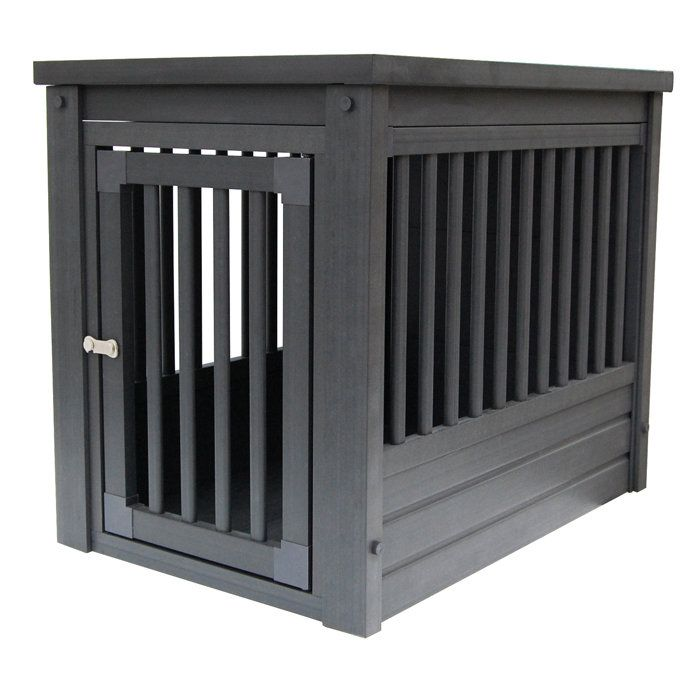27 best wooden dog crates images on pinterest dog for Best wooden dog crate