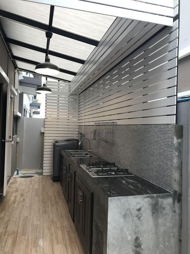 ครัวหลังบ้าน (มีรูปภาพ) | การออกแบบครัวโมเดิร์น, ครัว