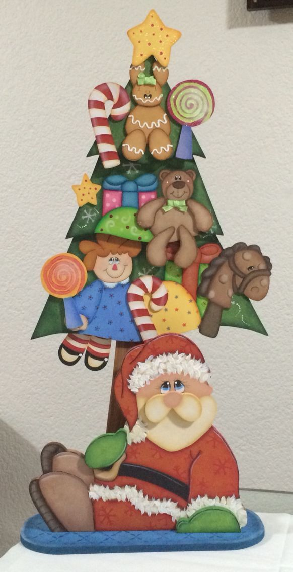 Country madera painting Christmas: