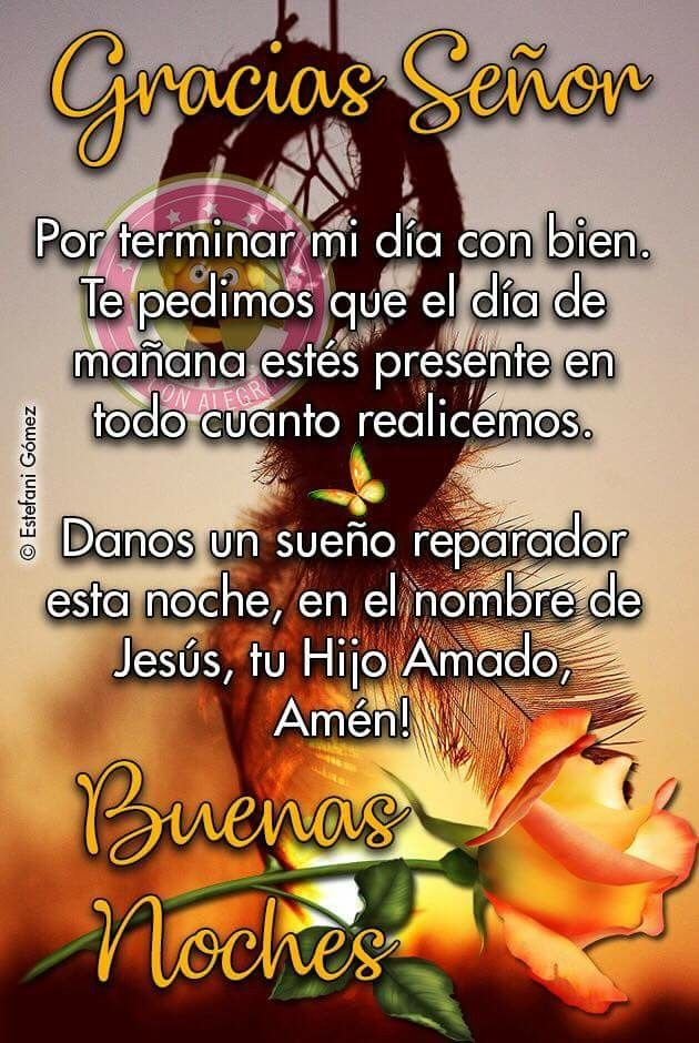 Gracias Senor Oracion De Buenas Noches Buenas Noches