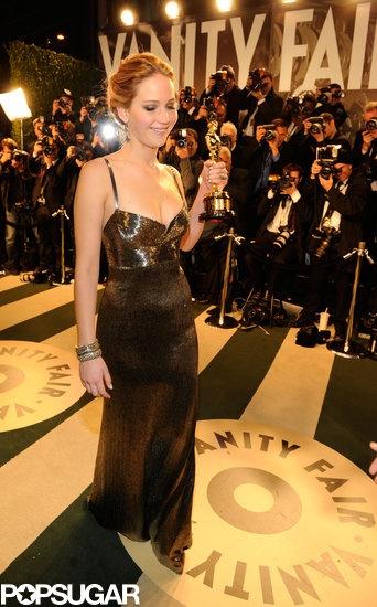 Jen's gorgeous Vanity Fair after party dress - Oscars 2013