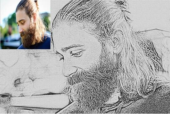 draw pencil effect form your photos