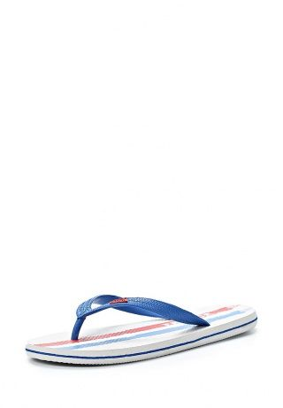 Мужские сланцы от Gioseppo - практичная обувь для похода в бассейн или для пляжного отдыха. Модель создана из искусственного материала. Детали: надежные синие ремешки, разноцветная стелька, плотная подошва с рисунком предотвращает скольжение. http://j.mp/WNlnY6