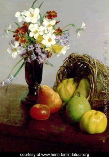 Fruits and Flowers 1866 - Ignace Henri Jean Fantin-Latour - www.henri-fantin-latour.org