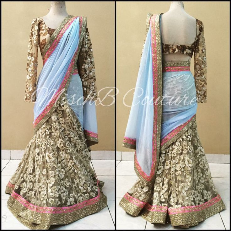 Neutralized, Saree by MischB Couture