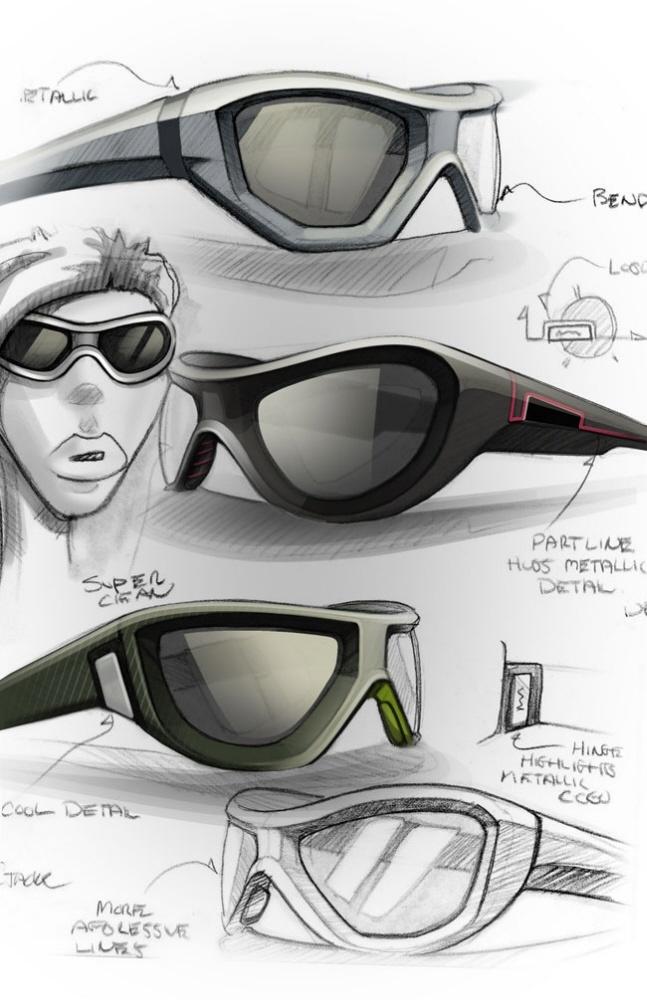 Sketches we like / Glases / Digital Sketch / Touchup / Render /  Wacom /
