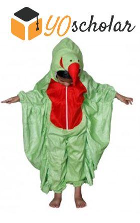Parrot1 Light Green Fancy Dress for Kids