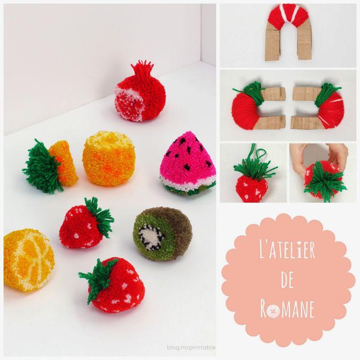 L'atelier de Romane: Pompons Fruits