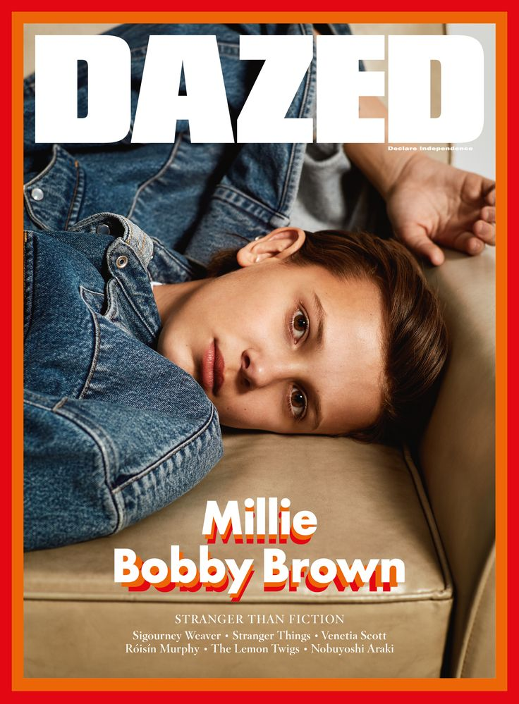 Millie Bobby Brown fronts the Stranger Things special issue of Dazed, Winter 2016. Photography Collier Schorr Fashion Robbie Spencer Millie wears Vetements x Levi's