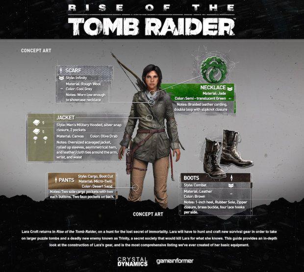 Rise Of The Tomb Raider: svelato l'equipaggiamento di Lara Croft