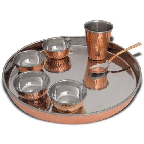 Buy direct from India online shopping; Dinnerware Set for one thali set diposable fine dishes  sc 1 st  Pinterest & 39 best Copper and Brass Kitchen Ware images on Pinterest | Cooking ...