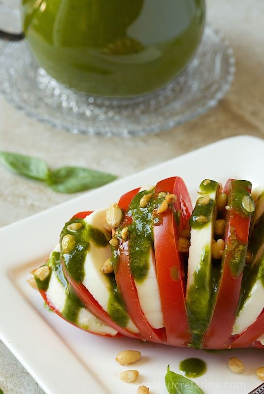 "Sweet Basil Vinaigrette. The most delicious dressing with vibrant basil flavor. If this dressing could talk, it would be shouting ""summer!""...."