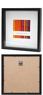 Online Store    40x40cm Black Square & Shadow Box photo frame and picture frame with 20x20 cms white mat
