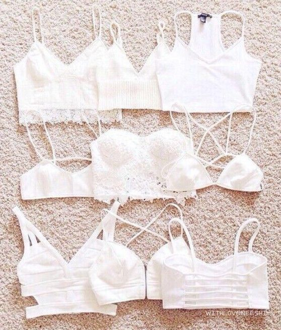 Brandy ♥ melville  cute bralettes are really fun to match with almost any outfit