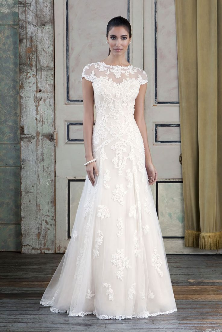 Beautiful soft lace wedding dress.  Signature Wedding Dresses London | Bridal Dress & Wedding Gown