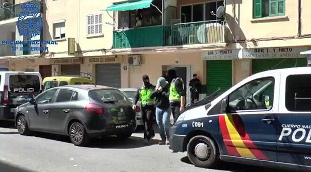 Video footage has emerged of the man, who was not named, being snatched by masked security officers and led away in broad daylight with his face covered with a grey top