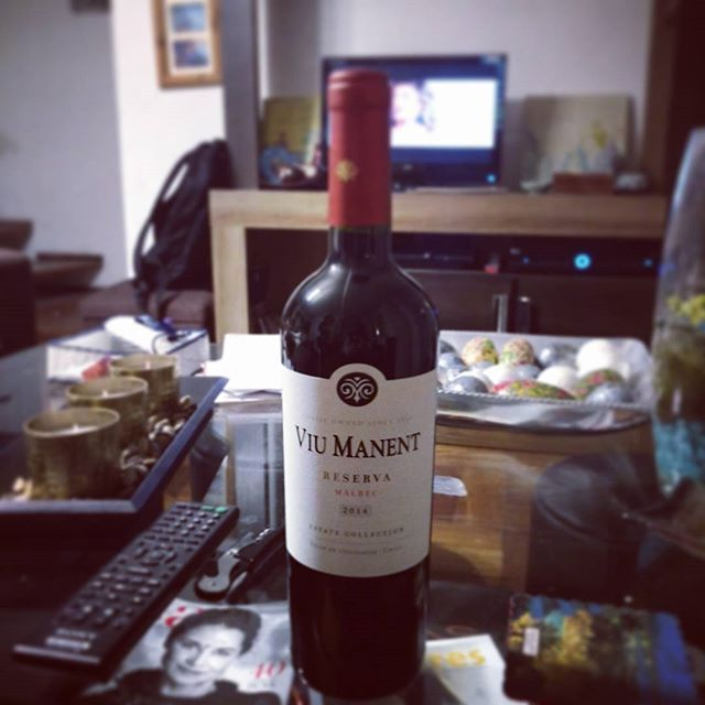 Un #Malbec para la noche con @gabipezoa #ViuManent #ValleDeColchagua