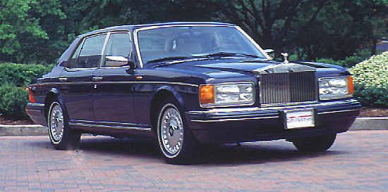 """""""New"""" Rolls-Royce Silver Spur, 1997, #SCAZNI9C2VCX60097. Built to US-specification (twin rectangular headlamps were not asked for since 1993) was this R-R Silver Spur."""