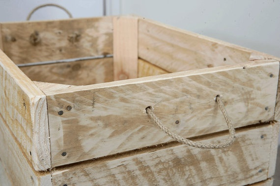 Upcycled Apple Crate Toy Box made from Recycled Pallets. £19,95, via Etsy.