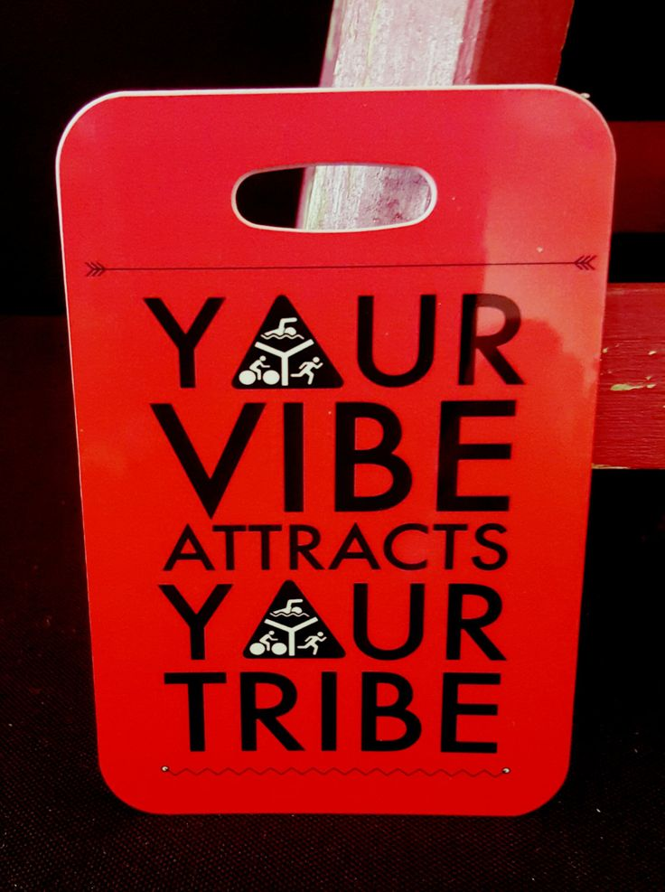 Triathlon Bag Tag, Your vibe attracts your tribe, luggage  gear bag sport tag…