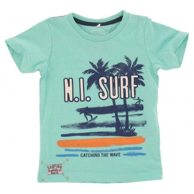 Name-it baby jongens T-shirt Izakari blauw - Schweigmann