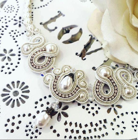 Dori's romantic bridal necklace....<3   #doricsengeri #doribridal #bridalnecklace #dorijewelry #whitenecklace #weddingjewelry