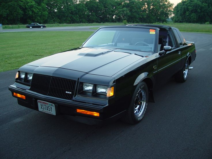 buick grand national gnx | 1987 american muscle car Buick Grand National GNX, black racing car ...