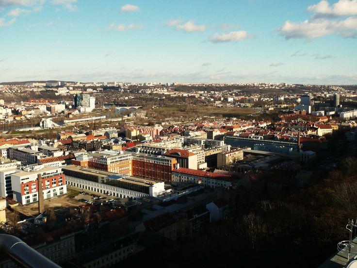 beautiful view from Prague district Vítkov