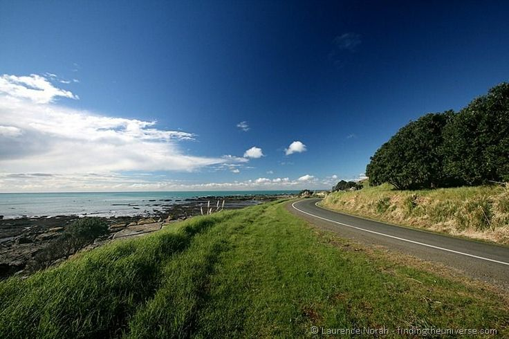 Road to the East Cape Lighthouse. New Zealands most easterly point and the First place to see the sun rise.