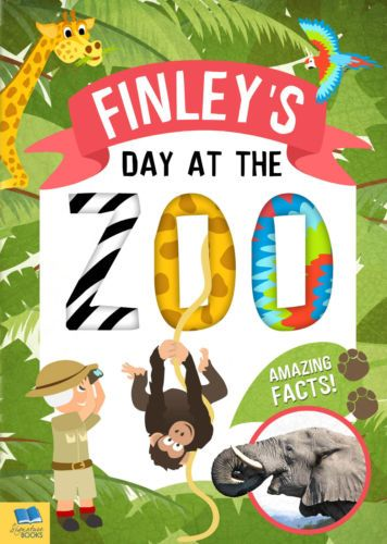 Personalised-Children-039-s-Story-Book-My-Day-At-The-Zoo-Christmas-Birthday-gift