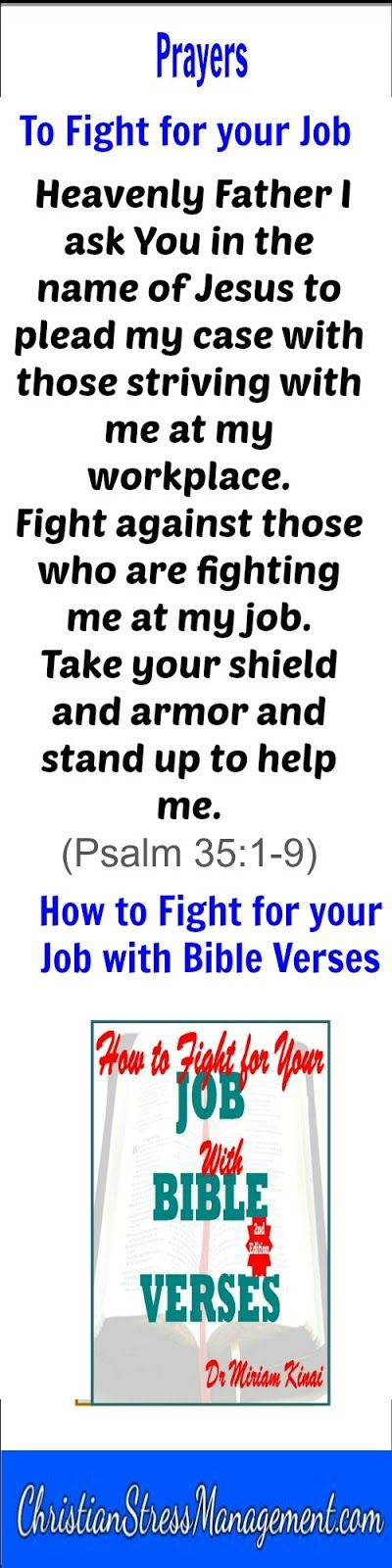 Bible prayers to fight for your job