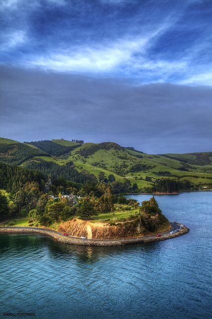 Cruise ship port Chalmers, near Dunedin, New Zealand