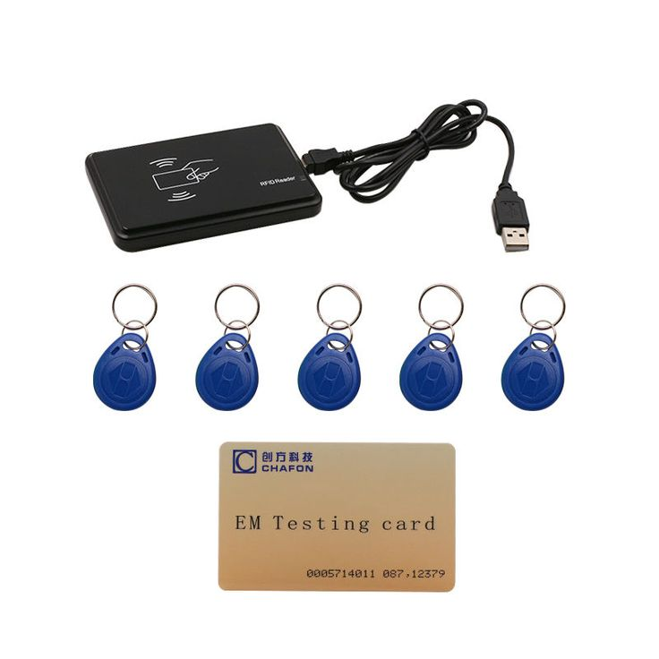 125khz RFID ID EM Card Reader & Writer&Copier/Duplicator( T5557/ EM4305 / 4200 ) with 5pcs key tag for Access Control