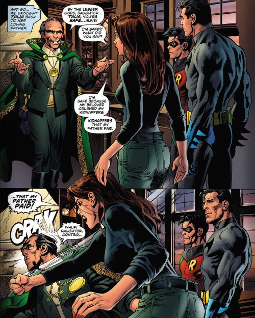 jason todd talia al ghul - Google Search. Hehehe, Bruce and Dick's face in the last panel is funny to me