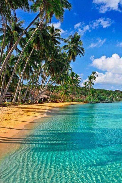 The amazingly beautiful Caribbean beach