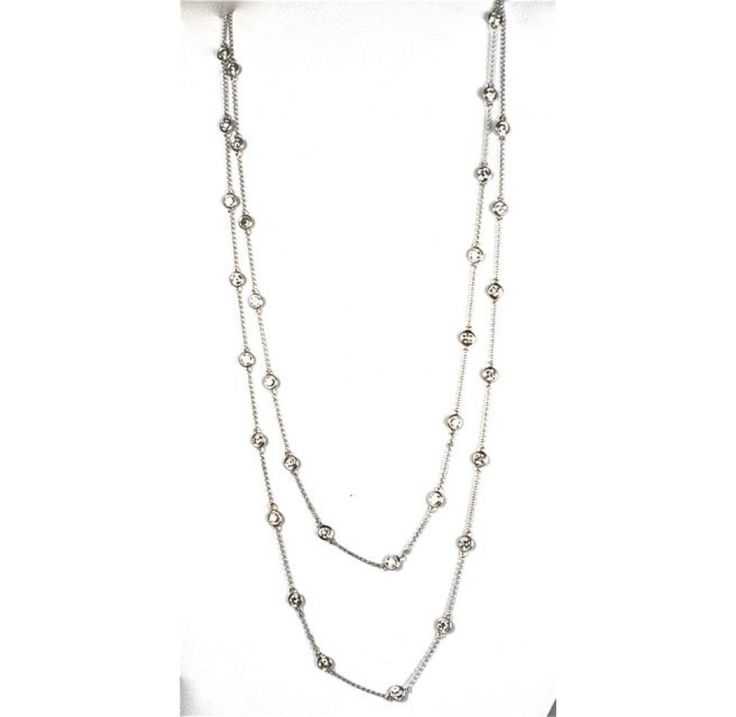 Diamond by the Yard Style 40-Inch 14kt White Gold Chain Necklace