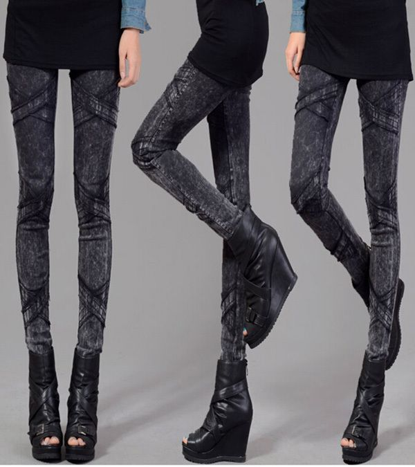 High Quality Black Women Cotton Sexy Skinny Leggings High Waist Ankle length Pencil Leggings Plus Size