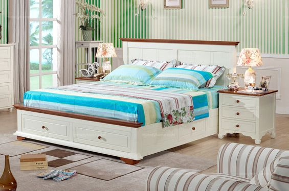 Caesar Palace Mediterranean Style 1.8m Double bed With Storage - MelodyHome.com