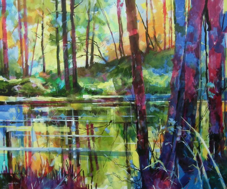 Meadowcliff Pond - Forest of Dean ref: 013-009  http://www.dougeaton.co.uk/painting/479-Meadowcliff_Pond