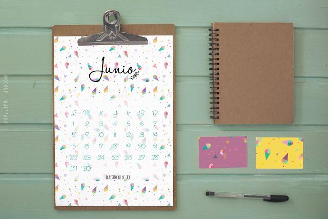 Calendario Junio 2015  #calendar #freebies #printable